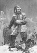 ELISHA KENT KANE Arctic Explorer John Franklin ~ Old 1862 Art Print Engraving