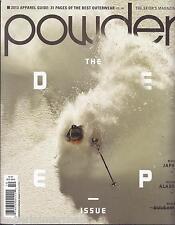 Powder ski magazine The deep issue apparel guide Best outerwear Japan Alaska
