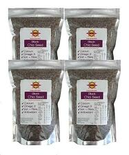 Chia Seeds Black 4kg (4 x 1kg bags) - Aztec Chia. New Harvest Use by Dec 2019