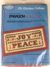 Paragon Needlecraft 6744 Christmas Greetings Sampler Kit Cross Stitch Joy Peace