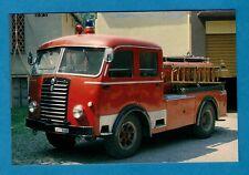 Postcard ~ 1944 Fiat 640 Autopompa - Conzo Fire Brigade - Niccolini of Italy