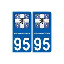 95 Baillet-en-France  blason autocollant plaque stickers ville arrondis