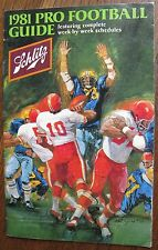 "1981 ""Pro Football Guide"" Issued by Schlitz, Week-by-Week Schedules/Scoring"
