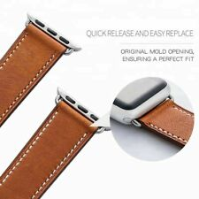 Marge Plus Genuine Leather Band - Compatible with Apple Watch - 38mm 40mm, Brown