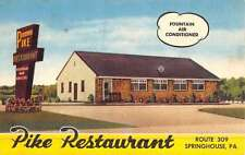 Springhouse Pennsylvania Pike Restaurant Street View Antique Postcard K44390