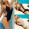 Women One-Piece Swimsuit Bandage Bikini Push-up Padded Backless Bathing Swimwear