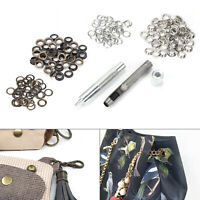 High quality Leather Craft Hole Punch Tool 8mm with 100 Two-tone eyelets UK