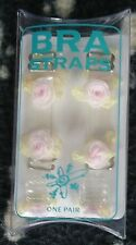 A PAIR OF MARGARITA COUTURE 'PINK ROSES' 1CM FASHION BRA STRAPS (N503)