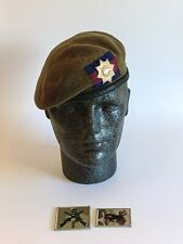 British Army-Issue Coldstream Guards Beret, Marksman & Brigade Badges. Size 54cm