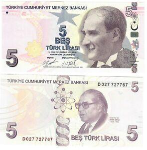 Turkey 5 Lira 2009 (2020) UNC