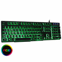 CiT Builder RGB USB Keyboard Wired PC Computer Gaming Multimedia Back-Lit Keys