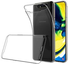 For Samsung Galaxy A80 - A90 Soft TPU Clear Gel Case Shockproof Silicone Cover