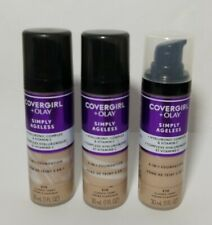 3 CoverGirl + Olay Simply Ageless 3-in-1 Liquid Foundation Classic Ivory 210