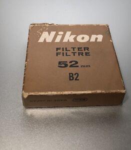 Genuine Nikon 52mm B2 82A Color Conversion Lens Filter (New)