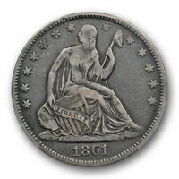 1861 O 50C CSA Obverse Seated Liberty Half Dollar PCGS VF 25 Very Fine Looks ...