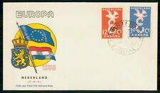 Mayfairstamps Netherlands FDC 1958 Flag and Coat of Arms Europa First Day Cover
