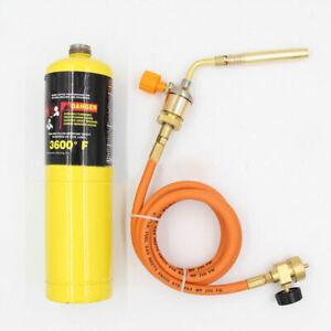 Mapp Gas Ignition Plumbing Turbo Torch & W/ Hose Solder Propane Welding