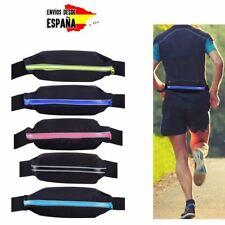 Riñonera deporte gimnasio correr running cinturon brazalete bandolera ELASTICO