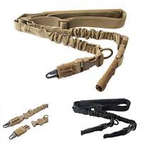 Rifle Sling Gun Belts Nylon Shoulder Strap W/ Adjustable Double Points QD Swivel