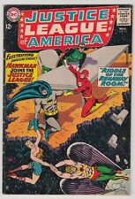 Justice League Of America #31 Very Good Condition Hawkman Joins Jla!