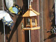 New listing Bird Feeders, Gazebo Bird Feeder, Stained Bird Feeder, Wooden Birdfeeder,