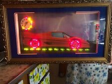 Wall clock with led lights and exotic car