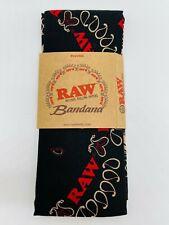 Raw Rolling Papers Bandana Scarf Black Large 55cm Smokers 420 Xmas Gift Idea