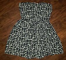 Forever 21 Women's L Black & Cream Stapless Dress NWT