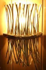 bois flottant Applique murale vieux chêne LAMPE Lumière Fagotin NEUF