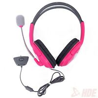 Pink Headset Headphone w/ Mic for Xbox 360 Live Elite Slim Wireless Controller
