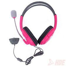Pink Headset Headphone w/ Mic for Xbox 360 Live Elite Slim Wireless Controller