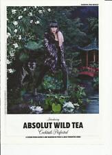 ABSOLUT WILD TEA - 2010 Absolut Vodka print ad
