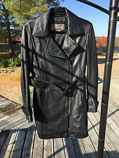 Bod & Christensen Lambskin Leather 3/4 Length Motorcycle Style Sz. M