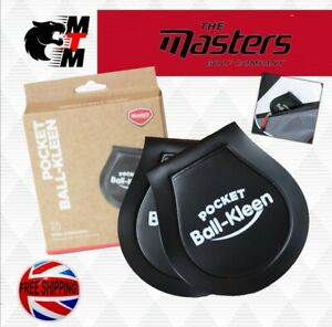 Masters Golf Ballzee Pocket Ball Cleaners (Twin Pack) Newest masters pack 2021