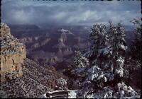 Winter snowfall Grand Canyon National Park Arizona aerial view ~ postcard sku523