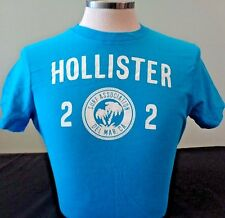 NEW MENS HOLLISTER S/S GRAPHIC T-SHIRT, TURQUOISE, PICK SIZE,ABERCROMBIE & FITCH
