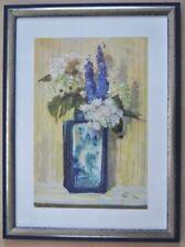 Kunstdrucke mit Lithographie-Technik mit Blumen-Handsignierte