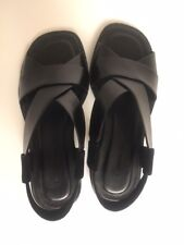 Alexander Wang Black Leather Sandals 5.5