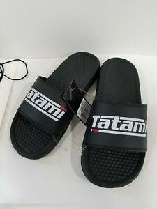 Tatami BJJ Jiu-Jitsu Fightwear Casual Wear Apparel Mens Black Sliders Sandals