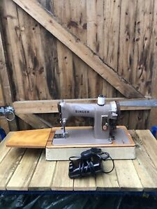 Singer 185k Heavy Duty Semi Industrial Sewing Machine Thick Leather & Upholstery