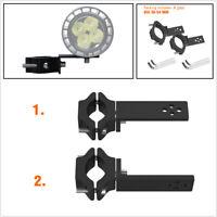 2 Pcs Motorcycle LED Spotlight Fog Lamp Headlight Bracket Fork Clamp Dia 30-54mm