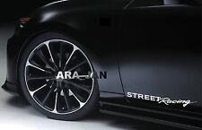 STREET Racing Vinyl Decal sport sticker emblem car logo door WHITE