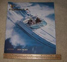 1999 Formula Boats Sun Sport Model 30 page sales Brochure boat