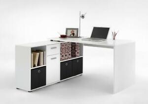 LEX 1 Schreibtisch Winkelkombi von FMD Weiß