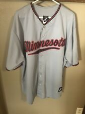 Majestic Authentic MN Twins Gray Span Jersey XL New