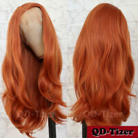 Orange Color Hair Synthetic Lace Front Wigs Heat Resistant Fashion Women Cosplay