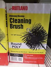 """RUTLAND"" POLY CHIMNEY BRUSH 6"" Round Wood stove Fireplace"