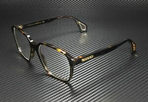 GUCCI GG0469O 002 Rectangular Havana Shiny Hvna Demo Lens 56 mm Men's Eyeglasses