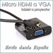 Adaptador MICRO HDMI a VGA Cable Conector Tablet a Proyector Conexion HDMI a VGA