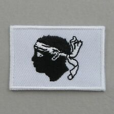 Corsica Flag Small Iron On/ Sew On Cloth Patch Badge Appliqué corse Corsican